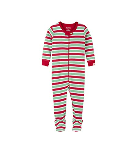 - Hatley Baby Boys Organic Cotton Footed Sleepers, Holiday Stripe, 9-12 Months