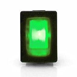Keep It Clean 126008 Green 16 Amp/12V Illuminated Rocker Switch 2