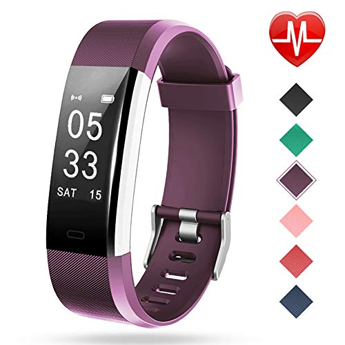 Lintelek Fitness Tracker with Heart Rate Monitor, Activity Tracker with Connected GPS, IP67 Waterproof Smart Fitness Band with Step Counter, Calorie Counter, Pedometer for Kids Women and ()
