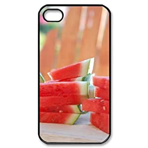 HXYHTY Customized Print Watermelon Pattern Back Case for iPhone 4/4S
