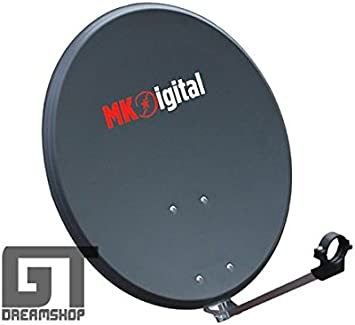 – Antena parabólica 60 cm antracita MK Digital de acero ...