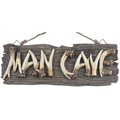 Liberty Imports Man Cave Hanging Wall Sign Decorative Mancave Wooden Novelty Decor (Best Small Man Caves)