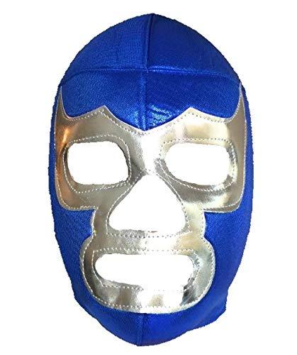(BLUE DEMON Adult Lucha Libre Wrestling Mask (pro-fit) Costume Wear -)