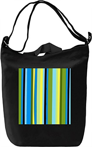 Vertical Lines Print Borsa Giornaliera Canvas Canvas Day Bag| 100% Premium Cotton Canvas| DTG Printing|