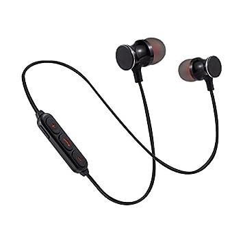 HHLUW Auriculares Bluetooth de los Deportes magnéticos de la Moda con los Auriculares sin Manos del