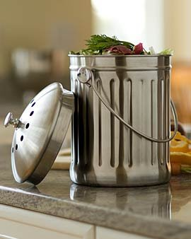 Sunwood Life Stainless Steel Kitchen Compost Pail