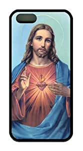 JESUS CHRIST-2 Iphone 5 5S Rubber Shell with Black Edges Cover Case by Lilyshouse