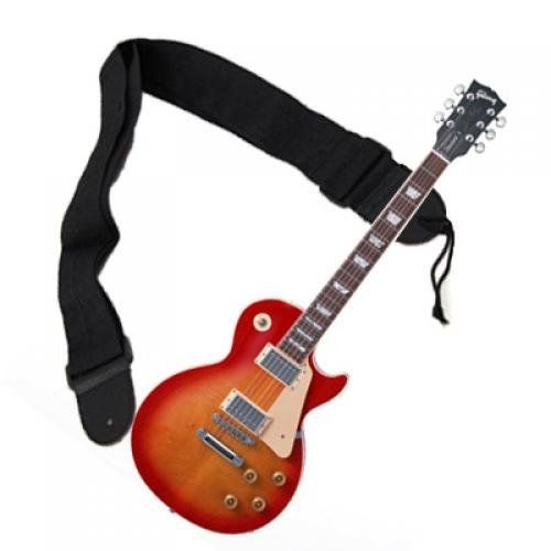 Black Nylon Strap for Acoustic Electric Guitar Bass