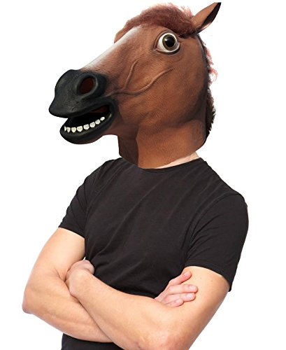 Make At Home Kids Halloween Costumes (LUBBER Horse Head Latex Toy Animal Head Mask For Halloween Costume)