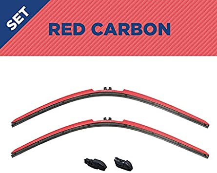 C Clip All Models CLIX Wipers Ford F-Series Pick Up Fits All Hook Attachments Red Carbon 2 Pack 1999-2010 Clix Carbon Collection