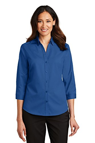 L665 True Twill Blue Port 3 Authority® Ladies Xl Superpro™ 4 sleeve Shirt zqOC8fw