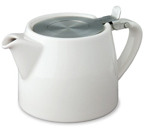 White 18oz (530ml / 2 CUP) LOOSE LEAF TEAPOT WITH INFUSER by FORLIFE