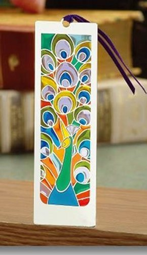 Silver Plated Stained Glass Bookmark ()