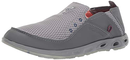 Columbia PFG Men's Bahama Vent Marlin PFG Boat Shoe, ti Grey Steel, Tangy Orange, 10 Regular US