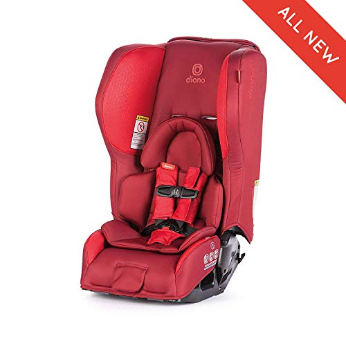 Diono Rainier 2AX Convertible Car Seat, for Children from Birth to 65 Pounds, Red