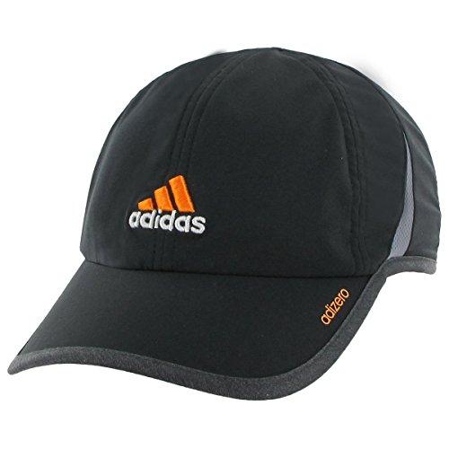 3d Logo Hat (adidas Men's Adizero II Cap, Black/Heather Grey/Solar Gold, One Size )