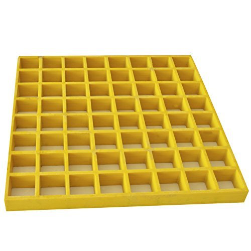 Eco Pultrusions FRP Molded Grating 4 FT x 12FT x 1 Inch Yellow by Eco Pultrusions
