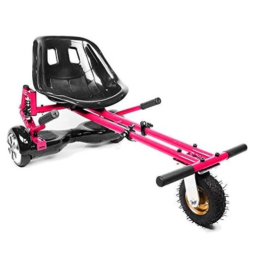 enyaa – Remorque pour gyroskate électrique Hoverboard pour faire un kart – Réglable – Pour hoverboard de 16,5, 20,3 et 25,4 cm – modèle de 2018, plus sûr – Pour adultes et enfants