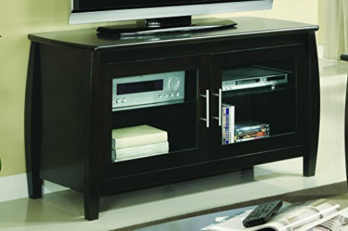 Coaster Home Furnishings 2-Door TV Console Cappuccino and Clear