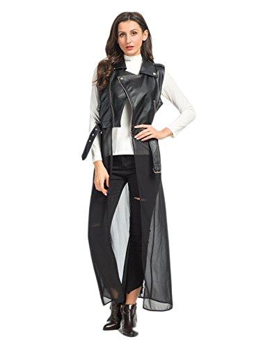 PERSUN Womens Jacket Chiffon Bottom