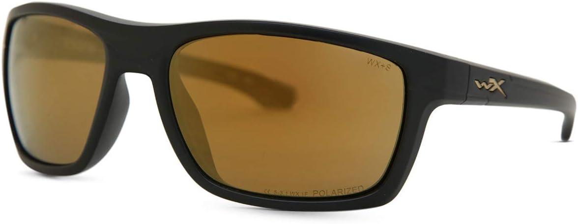 Wiley X Moxy Polarized Blue Mirror Lens Gloss Black Frame Polbrillen