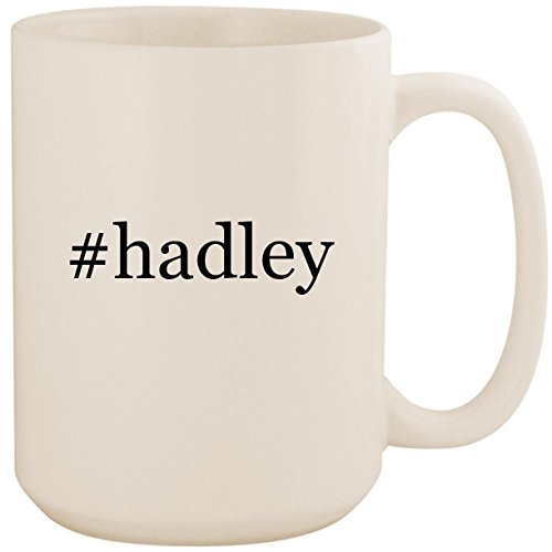 #hadley - White Hashtag 15oz Ceramic Coffee Mug - Roma Bag Gear