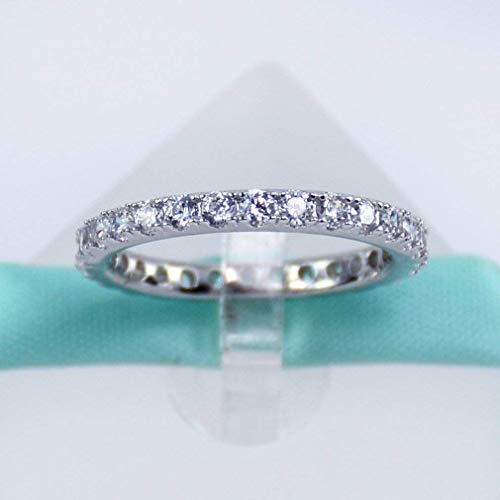 Eternity Sterling Silver Ring, Wedding Band, Bands, Ring