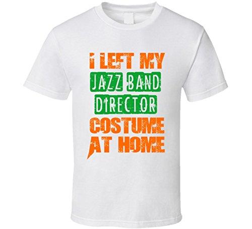 Band Director Halloween Costume (Left Jazz Band Director Halloween Costume At Home Occupation T Shirt M White)