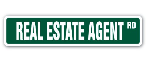 """Price comparison product image Real Estate Agent Street [3 Pack] of Vinyl Decal Stickers 