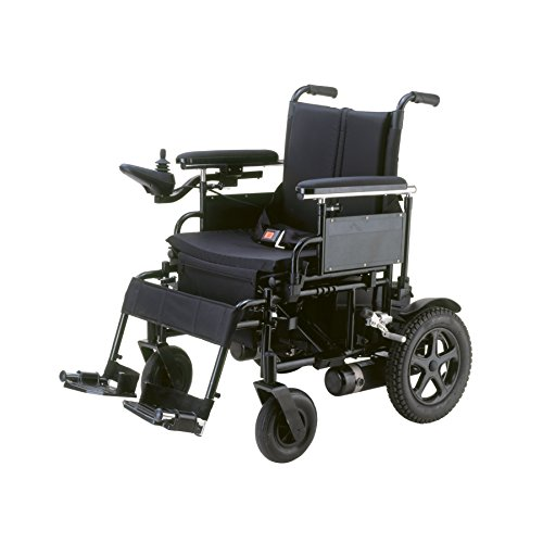 - Drive Medical Cirrus Plus Folding Power Wheelchair with Footrest and Batteries, Black, 18