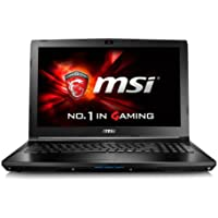 MSI Computer GL62 6QF-1446 MSI 15.6 Core i7-6700HQ 8GB DDR4 1TB HDD Win 10 Gaming Laptop Computer, Black