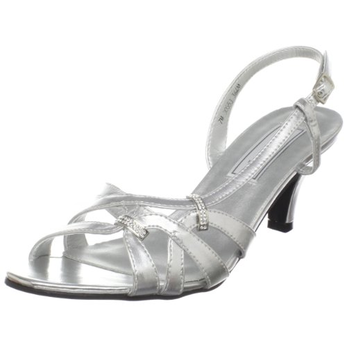 Touch Ups Women's Donetta Manmade Slingback Sandal,Silver ,11 M US