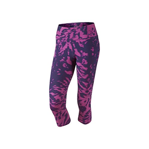 Nike Womens Printed Capri Athletic Tights Purple M