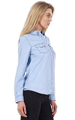 ex High Street - Camisas - para mujer azul celeste