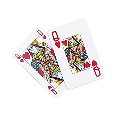 Caspari Redoute Floral Large Type Playing Cards, 2 Decks Included: Toys & Games