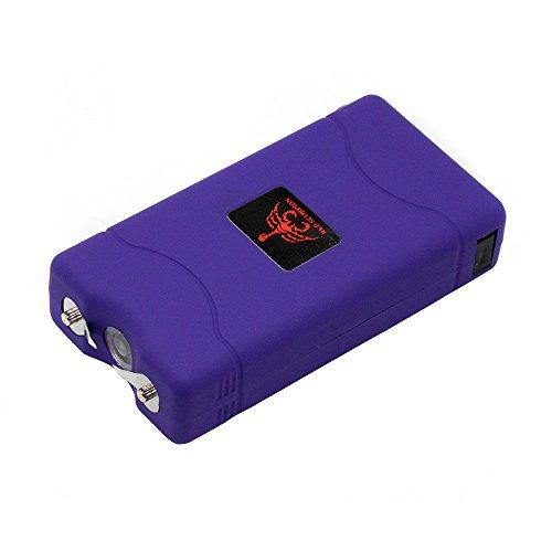 Stun Scorpion Gun - Red Scorpion Mini Stun Gun 800-500 Million Volts Rechargeable with LED Tactical Flashlight (Purple)