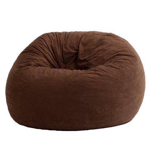 Big Joe Large Fuf Foam Filled Bean Bag Chair, Comfort Suede, Espresso