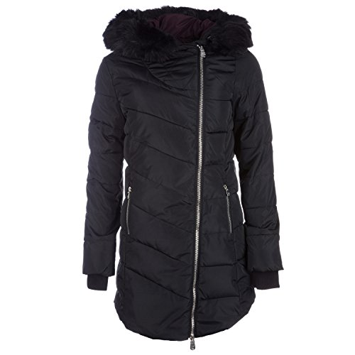 Long Jacket Salcombe Black Puffa Charcoal Women's Sleeve Down 6wUUCq