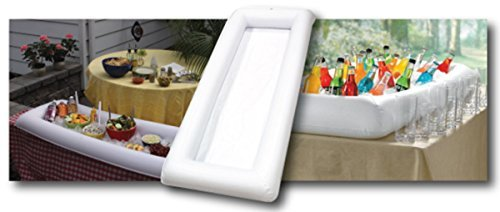 Cool Downz Inflatable Salad/Serving Bar, White, 51'' L x 25'' W x 4.5'' Deep (2-Pack) by Cool Downz (Image #2)