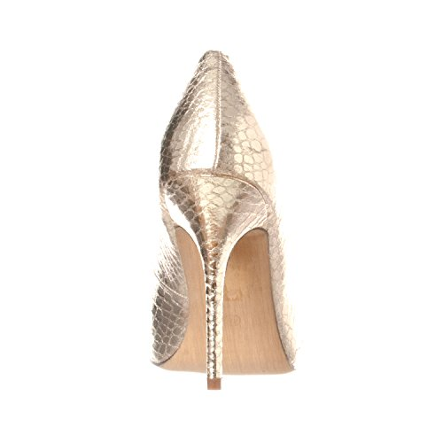 Gold Women's Heels Toe Pump Gaby Riverberry Pointed Closed Snake Stiletto qI8F0d