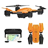 le-idea IDEA7 Foldable GPS Drone with Auto Return Auto Hover Follow Me Mode 720P WiFi FPV RC Drone Live Camera and GPS Positioning Quad Copter with Map Location Includes Portable Carry Case for IDEA7