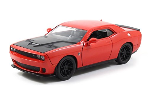 Jada Big Time Muscle 2015 Dodge Challenger SRT Hellcat 1/24 Scale Diecast Model Car Orange (Display Version No Retail Box) Version Diecast Car Model