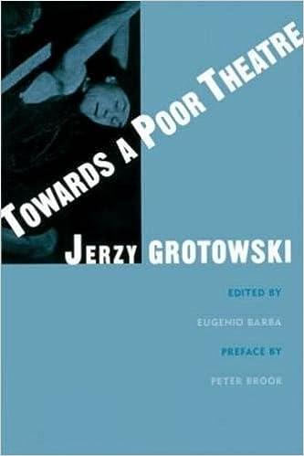 Towards A Poor Theatre Arts Routledge Paperback Jerzy Grotowski Eugenio Barba 9780878301553 Amazon Books