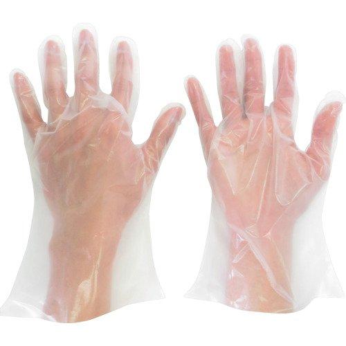 課税集団のスコアミドリ安全 ポリエチレン使い捨て手袋 厚手 外エンボス 200枚入 M VERTE565NM