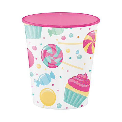 Hoffmaster Group 324833 12 oz Candy Bouquet Plastic Sweet Cup44; Pack of 12
