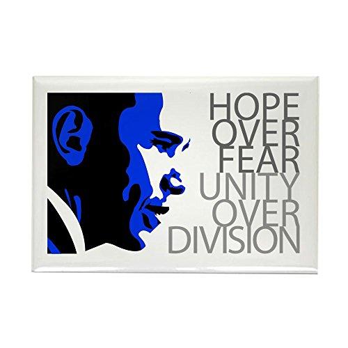 Hope Rectangle Magnet (CafePress - Obama - Hope Over Division - Blue Rectangle Magnet - Rectangle Magnet, 2