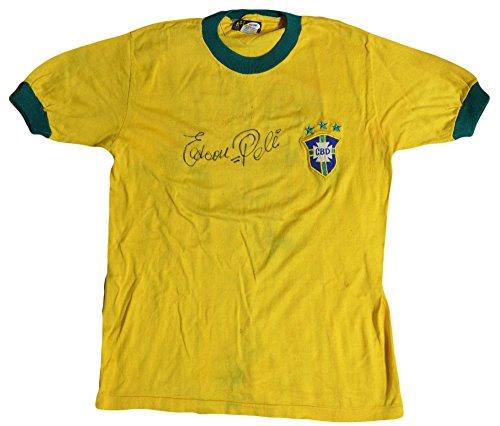 Pele Game Used Signed Brazil Jersey. Circa 1970-1971