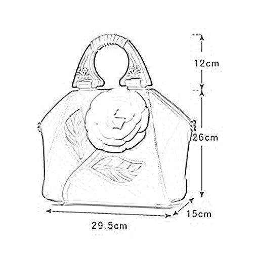 bandoulière Couleurs Sac Messenger 29 cm Fleur PU à 7 5 ANLEI White Bag 26 6212 La Main Sac Mode Femmes à 15 tridimensionnelle National Style 6fZxqZ