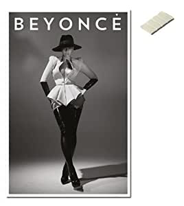 Bundle - 2 Items - Beyonce Poster - 91.5 x 61cms (36 x 24 Inches) and Small Block Of White Tack