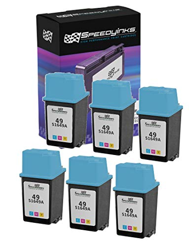 Speedy Inks - 6PK Remanufactured Replacement Ink Cartridge for HP 49 51649A HP 49 Tri-Color